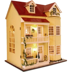 DIY Classic Deluxe Wooden Dollhouse 3D Puzzle with Light and Music