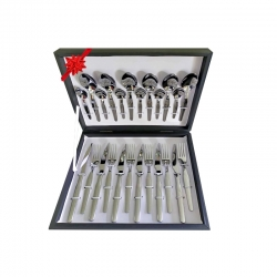 Conjunto de 24 peças de talheres De Luxe caixa de presente com faca de carne