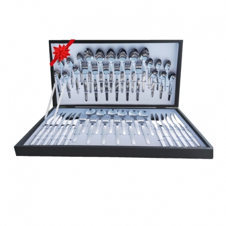 Set 48 Pieces Cutlery De Luxe Gift Box with Meat Knife