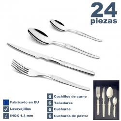 Juego 24 Piezas Cubertería De Luxe con Cuchillo Carne