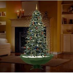 Arbre de Noël avec la lumière DEL, neige artificielle et ornements 1.90 mètres
