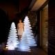 Árvores de natal led luminoso, vários tamanhos, luz 16 cores