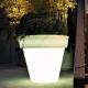 Vaso de flores plantador con luz led RGBW 'Roma' 60x68 cm