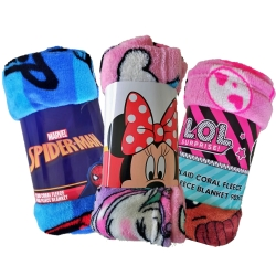 Coralina Blanket for Children Boy Girl Sofa, Soft, Extra Comfort