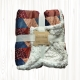 Coralina Printed Blanket 130x160 cm for Sofa, Smooth, Soft