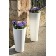 White Large Planter 80 Centimeters, Outdoor and Indoor Planter 60 Centimeters, High Quality Polyethylene and Very Resistant Desi
