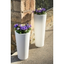 Large White Planter 80 Centimeters, Outdoor and Indoor, High Quality Polyethylene and Very Resistant Design