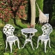 Set of 1 Table and 2 Chairs of Maximum Quality and Resistance Aluminum for garden, balcony, terrace, swimming pool.