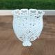 White Romantic Aluminum Pot Support, Planter, Resistant Aluminum, for Outdoor and Garden.