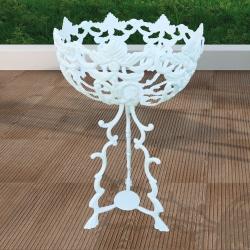 Jardinière, pots de support en aluminium résistant, pour l'extérieur et le jardin. Fabrication artisanale européenne.