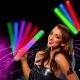 50 Led luminous party foam sticks multicolor 48x4cm