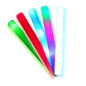 100 Led luminous party foam sticks multicolor 48x4cm