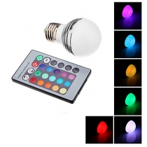 Ampoules LED, E27, 3W, RGB, mini