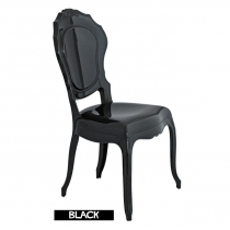 Black Italian chairs, Belle Epoque