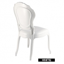White Italian chairs, Belle Epoque