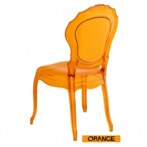 Chaises italiennes transparentes, Belle Epoque, Orange