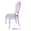 Chaises italiennes transparentes, Belle Epoque, Violette
