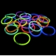 pulseras luminosas glow multicolor