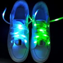 Lacets LED, nylon