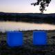 Cubo led 40 cm, luz 16 cores, portátil, recarregável