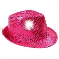 Sombreros Fedora, luminosos, rosa fucsia
