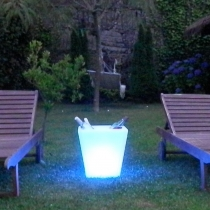 Ice Bucket LED, Rechargeable, Albariño
