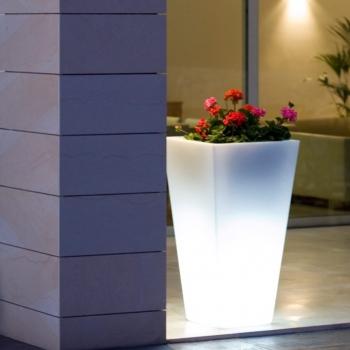 Macetero Maceta 76cm con luz led 16 colores RGBW 'Amsterdam'