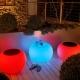 Mesa hostelería iluminada con luz, led, RGB, sin cables, Bubble