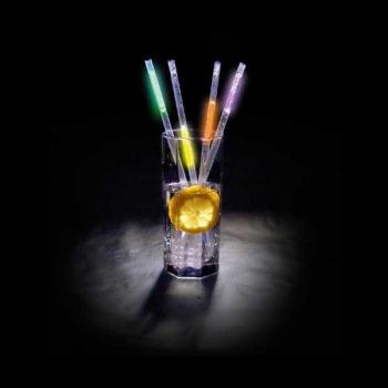 Pailles de fête lumineuses, lueur multicolore (50 unités)