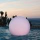 Bola, esfera con luz led RGBW, 80cm, batería recargable