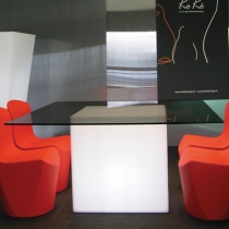 Led cube lumineux 65 cm, lumière 16 couleurs, portable