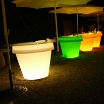 LED Flowerpot 'Roma' 130x120 cm, 16 colours light