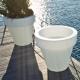 Vaso 130x120cm com luz Led RGBW 16 cores solar + bateria Roma