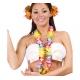 Partie hawaïenne, colliers, fleurs multicolores