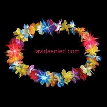 Colliers hawaïens de partie de fleur de led