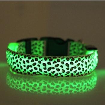 Colliers lumineux pour chiens, léopard