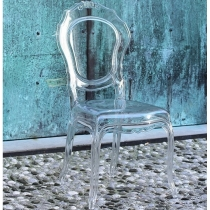 Transparent Italian chairs, Belle Epoque