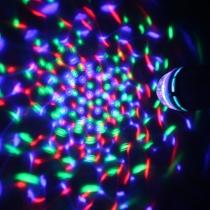 Bombilla Led E27 Disco 3x1W Multicolor Activación por Sonido