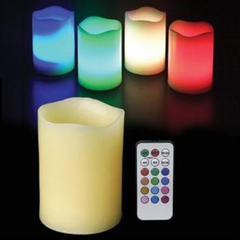 Bougies LED, bougies de cire, RGB, avec le contrôle