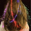 Fiber optic hair extension