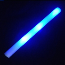 Blue led foam sticks