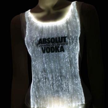 T-shirt à fibre optique avec logo