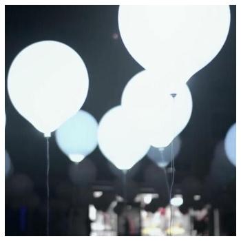 Globos led, blancos, grandes, 45cm