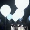 Ballons LED, blanc, grand, 45cm