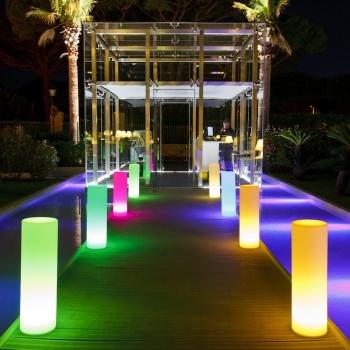 Colonnes, tubes LED, 70cm, RGB, rechargeable