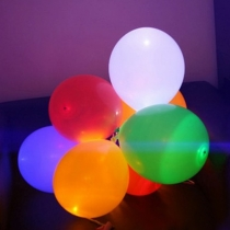 Ballons LED, colorés, grands, 45cm
