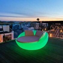 Cama Balinesa Sofa con luz LED cambio de color Formentera
