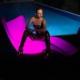 Chaise longue à LED multicolore