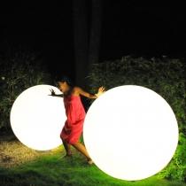 Led sphérique à billes lumineuses 150 cm, lumière 16 couleurs