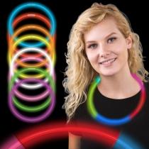 Colliers de fête lumineux, lueur, tricolore 50 pcs